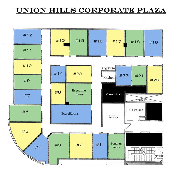 Union Hills Corporate Plaza office layout